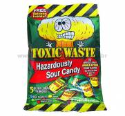 TOXIC WASTE HAZARDOUSLY SOUR CANDY - BALAS ÁCIDAS 57g