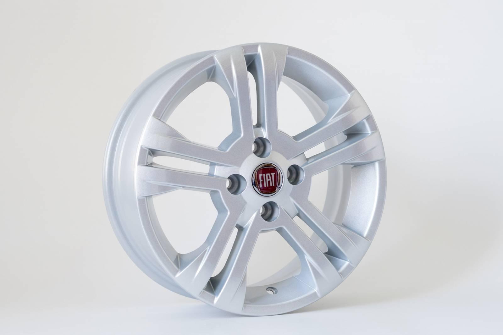 Jogo de 04 Rodas Fiat New Palio aro 15 4x98 KR R17 Prata