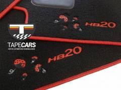 Tapete Automotivo Hyundai HB20 personalizado em Carpet Linha Luxo