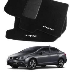 Tapete Automotivo Honda Civic em Carpet Linha Luxo