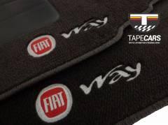Tapete Automotivo Fiat Uno Way em Carpet Linha Luxo