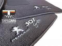 Tapete Automotivo Peugeot 307 Grafite em Carpet Linha Luxo