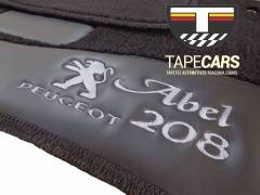 Tapete Automotivo Peugeot 208 Personalizado em Carpet Linha Luxo