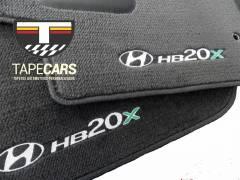 Tapete Automotivo Hyundai HB20X em Carpet Linha Luxo