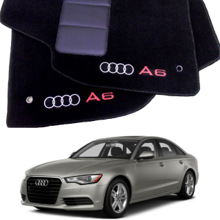 Tapete Automotivo Audi A6 em Carpet Linha Luxo | Scar Automotive