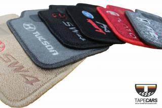 Tapete Automotivo Audi RS4 AVANT em Carpet Linha Luxo | Scar Automotive