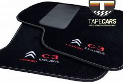Tapete Automotivo Citroen C3 Exclusive em Carpet Linha Luxo