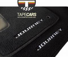Tapete Automotivo Dodge Journey 7 lugares em Carpet Linha Luxo
