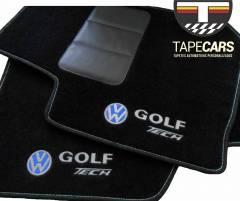 Tapete Automotivo VW Golf Tech em Carpet Linha Luxo