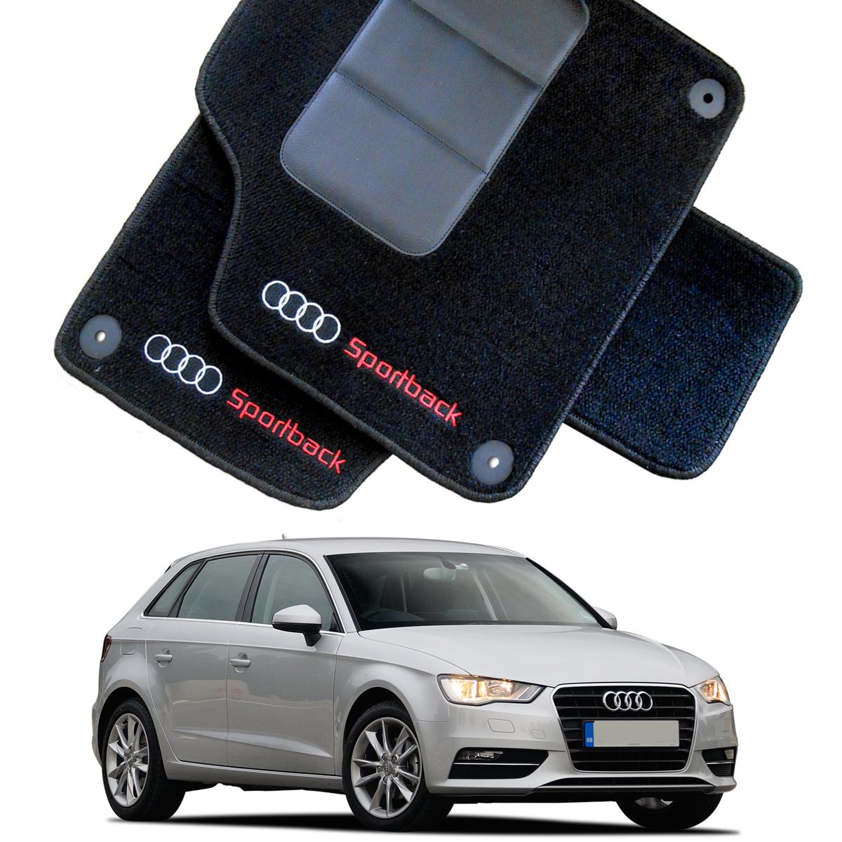 Tapete Automotivo Audi A3 Sportback em Carpet Linha Luxo
