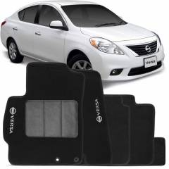 Tapete Automotivo Nissan Versa carpete base pinada