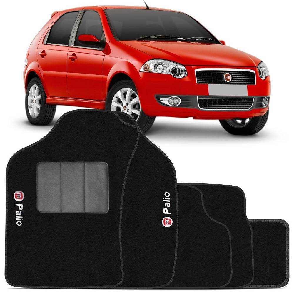 Tapete Automotivo Fiat Palio carpete base pinada