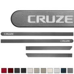 Friso Lateral GM Chevrolet Cruze 2012 Cinza Mond Personalizado 4 Peças