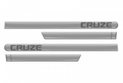 Friso Lateral GM Chevrolet Cruze 2012 Cinza Rusk Personalizado 4 Peças