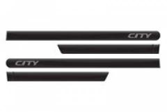 Friso Lateral Honda City 2009 Preto Cristal Perolizado Personalizado 4 Peças