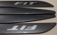 Friso Lateral Honda Fit 2015 Cinza Barium Personalizado 4 Peças