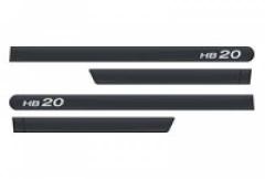 Friso Lateral Hyundai HB20 2013 Cinza Titanium Personalizado 4 Peças