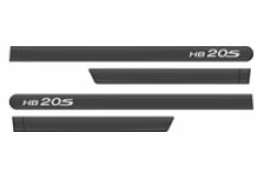Friso Lateral  Hyundai HB20S 2013 Cinza Titanium Personalizado 4 Peças