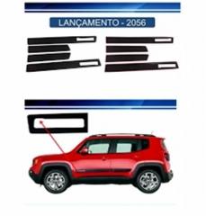 Friso Lateral Jeep Renegade Trailhawk 2015 Preto Modelo Original 4 Peças