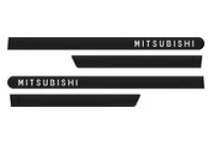 Friso Lateral Mitsubishi Outlander TR4 Preto Onix Personalizado 4 Peças