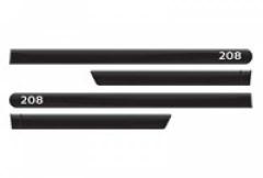 Friso Lateral Peugeot 208 Preto Perla Nero Personalizado 4 Peças