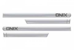 Friso Lateral GM Chevrolet Onix 2012 Prata Switchblade 4 Peças
