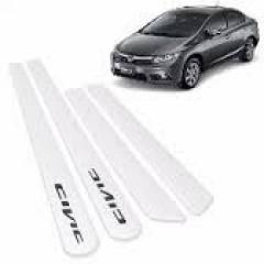 Friso Lateral Honda Civic 2012 Branco 4 Peças