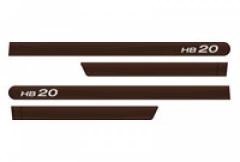 Friso Lateral Hyundai HB20 2013 Marrom Clay 4 Peças