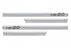 Friso Lateral Hyundai HB20 2013 Prata Metal 4 Peças