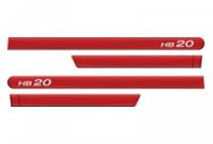 Friso Lateral Hyundai HB20 2013 Vermelho Tropical 4 Peças