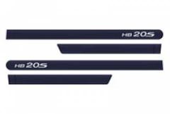 Friso Lateral Hyundai HB20S 2013 Azul Ocean 4 Peças