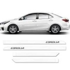 Friso Lateral Toyota Corolla 2008/2014 Branco Polar 4 Peças