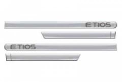 Friso Lateral Toyota Etios 2012 Hatch Sedan Prata Soul 4 Peças