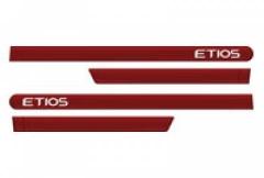 Friso Lateral Toyota Etios 2012 Hatch Sedan Vermelho Pop 4 Peças