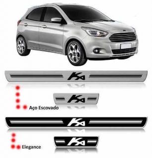 Soleira Resinada Ford kA 2015 2016 4 Peças | Scar Automotive