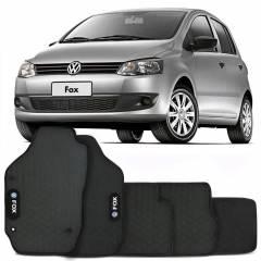 Tapete Automotivo Fox - borracha PVC bordado Linha Black
