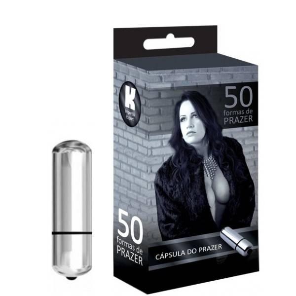 Vibrador Cápsula Prata - 50 Formas De Prazer