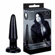 Plug Anal 11,5x2,5 cm Cor Preto - Cinquenta Formas de Prazer | Intima Sedução - Sex Shop, Produtos Eróticos
