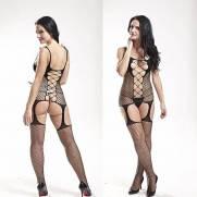 Bodystocking Macacão Arrastão Estilo Vestido | Intima Sedução - Sex Shop, Produtos Eróticos