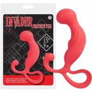 Massageador De Próstata Em Silicone Invader Vermelho | Intima Sedução - Sex Shop, Produtos Eróticos