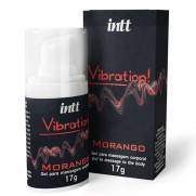 Vibration INTT Vibrador Liquido 17g Morango - Gel Eletrizante INTT | Intima Sedução - Sex Shop, Produtos Eróticos