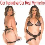 Mini Conjunto Sex Plus Size Com Persex COR VERMELHO | Intima Sedução - Sex Shop, Produtos Eróticos