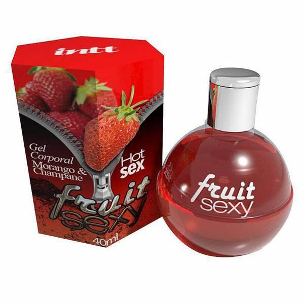Gel de Sexo Oral Sabor Morango Fruit Sexy INTT