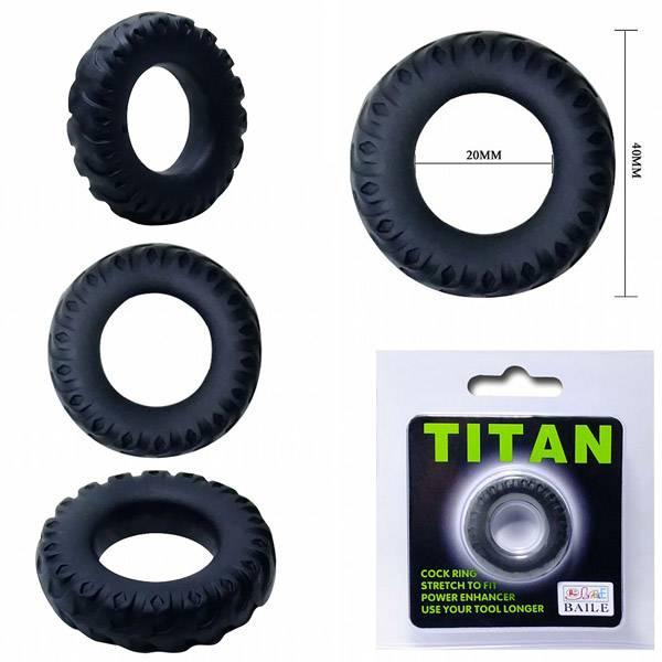 Anel Peniano Titan 4 cm Preto Elástico