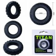 Anel Peniano Titan 4 cm Preto Elástico | Intima Sedução - Sex Shop, Produtos Eróticos