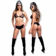 Fantasia Federal de Short - Fácil Prazer | Intima Sedução - Sex Shop, Produtos Eróticos