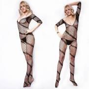 Macacão Arrastão Espiral - Bodystocking | Intima Sedução - Sex Shop, Produtos Eróticos