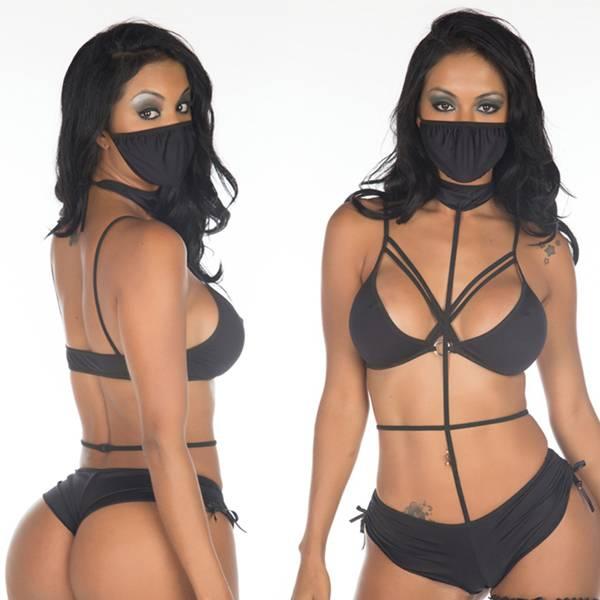 Fantasia Ninja Negra