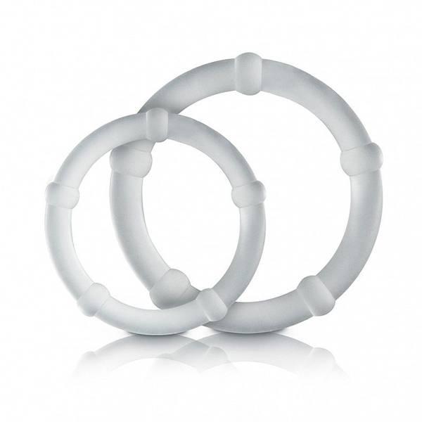 Kit Com 2 Anéis Penianos Com Saliências Transparente