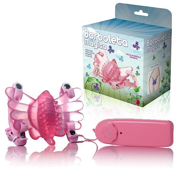 Vibrador Butterfly Estimulador Feminino Rosa Borboleta Mágica